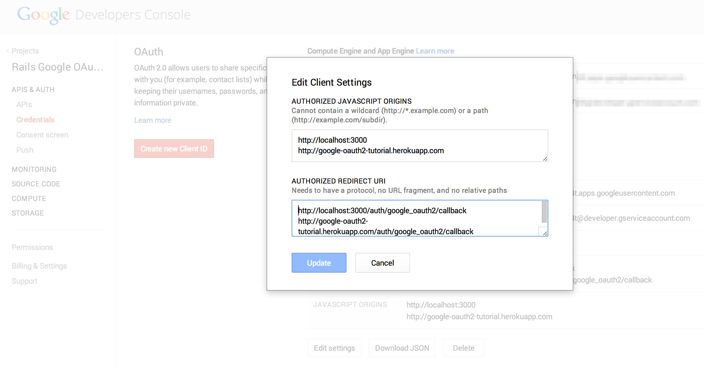 Rails Google OAuth2 Tutorial
